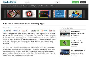 http://edudemic.com/2012/10/5-ipad-screensharing-apps/