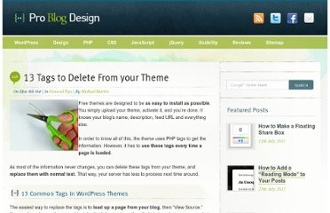 http://www.problogdesign.com/general-tips/13-tags-to-delete-from-your-theme/
