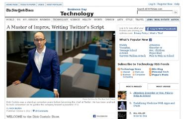 http://www.nytimes.com/2012/10/07/technology/dick-costolo-of-twitter-an-improv-master-writing-its-script.html?pagewanted=all