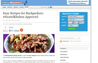 http://blog.hostelbookers.com/travel/budget-travel/backpacker-recipes/