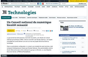 http://www.lemonde.fr/technologies/article/2012/10/10/un-conseil-national-du-numerique-bientot-remanie_1772791_651865.html