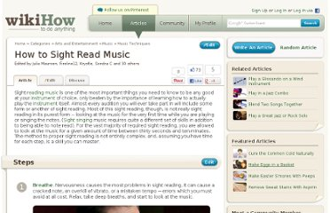 http://www.wikihow.com/Sight-Read-Music