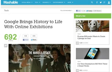 http://mashable.com/2012/10/10/google-brings-history-to-life-with-online-exhibitions/