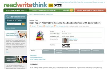 http://www.readwritethink.org/classroom-resources/lesson-plans/book-report-alternative-creating-c-30914.html