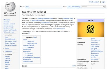 http://en.wikipedia.org/wiki/Go_On_(TV_series)