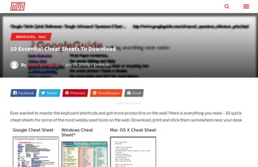 http://www.makeuseof.com/tag/7-essential-cheat-sheets/