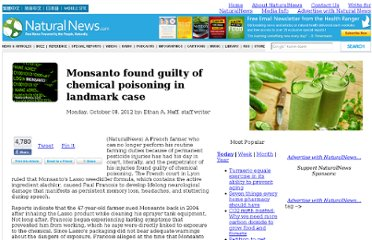 http://www.naturalnews.com/037465_Monsanto_chemical_poisoning_court_case.html#ixzz28np2D2Tw