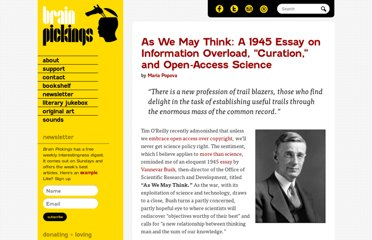 http://www.brainpickings.org/index.php/2012/10/11/as-we-may-think-1945/