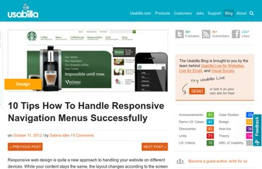 http://blog.usabilla.com/10-tips-how-to-handle-responsive-navigation-menus-successfully/