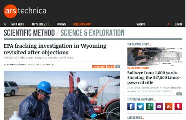 http://arstechnica.com/science/2012/10/epa-fracking-investigation-in-wyoming-revisited-after-objections/