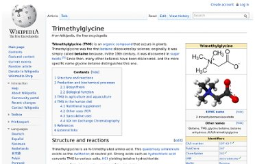 http://en.wikipedia.org/wiki/Trimethylglycine