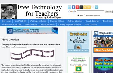 http://www.freetech4teachers.com/p/video-creation-resources.html