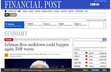 http://business.financialpost.com/2012/10/12/lehman-bros-meltdown-could-happen-again-imf-warns/
