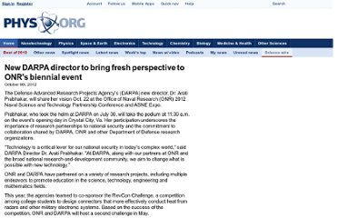 http://phys.org/wire-news/111253162/new-darpa-director-to-bring-fresh-perspective-to-onrs-biennial-e.html