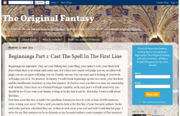 http://theoriginalfantasy.blogspot.com/2012/05/beginnings-part-1-cast-spell-in-first.html