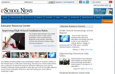 http://www.eschoolnews.com/resources/educator-resource-center/
