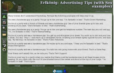 http://www.talisman.org/~erlkonig/humour/advertising-sex-tips.shtml