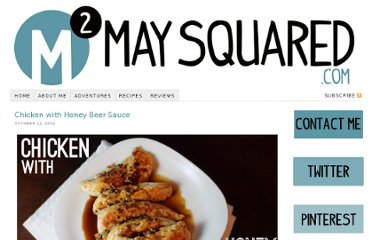 http://www.maysquared.com/blog/chicken-with-honey-beer-sauce/
