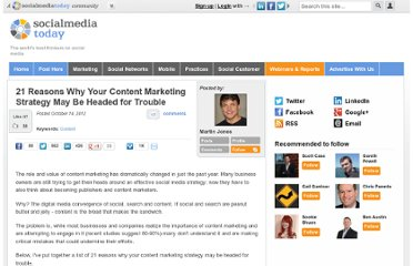 http://socialmediatoday.com/martinjones/905131/21-signs-your-content-marketing-strategy-could-be-headed-trouble