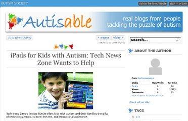 http://www.autisable.com/768733767/ipads-for-kids-with-autism-tech-news-zone-wants-to-help/