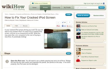 http://www.wikihow.com/Fix-Your-Cracked-iPod-Screen
