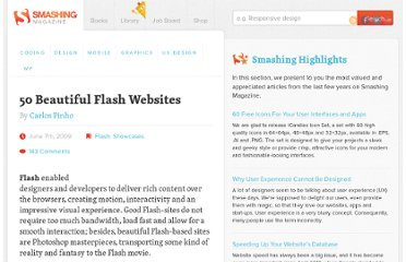 http://www.smashingmagazine.com/2009/06/07/50-beautiful-flash-websites/