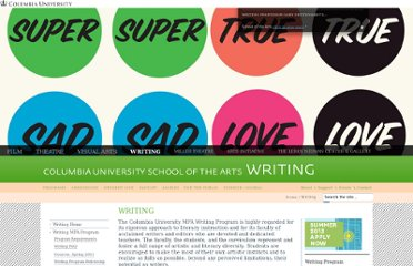 http://arts.columbia.edu/writing