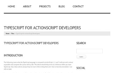 http://jessewarden.com/2012/10/typescript-for-actionscript-developers.html