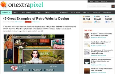 http://www.onextrapixel.com/2012/10/15/45-great-examples-of-retro-website-design/