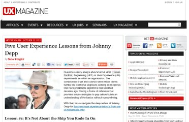 http://uxmag.com/articles/five-user-experience-lessons-from-johnny-depp