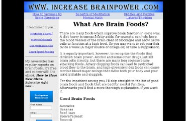 http://www.increasebrainpower.com/brainfoods.html