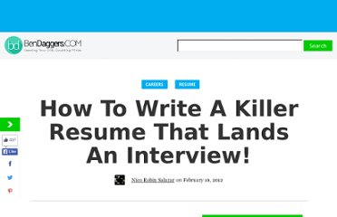 http://www.bendaggers.com/how-to-write-a-killer-resume-that-lands-an-interview/