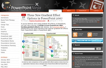 http://www.powerpointninja.com/powerpoint-2007/three-new-gradient-effect-options-in-powerpoint-2007/