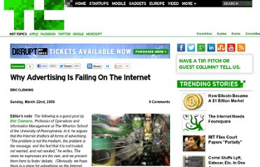 http://techcrunch.com/2009/03/22/why-advertising-is-failing-on-the-internet/
