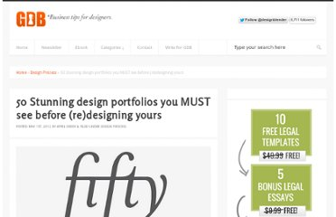 http://www.graphicdesignblender.com/50-stunning-design-portfolios-you-must-see-before-redesigning-yours