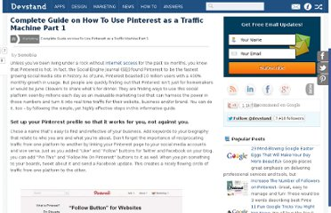 http://devstand.com/marketing/complete-guide-on-how-to-use-pinterest-as-a-traffic-machine-part-1/