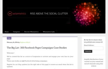 http://blog.wisemetrics.com/the-big-list-150-facebook-pages-case-studies/
