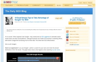 http://www.seomoz.org/blog/tips-to-use-google-for-seo