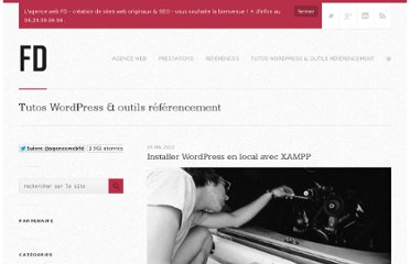 http://www.francoisdubois.fr/installer-wordpress-en-local-avec-xampp/