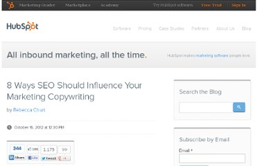 http://blog.hubspot.com/blog/tabid/6307/bid/33695/8-Ways-SEO-Should-Influence-Your-Marketing-Copywriting.aspx