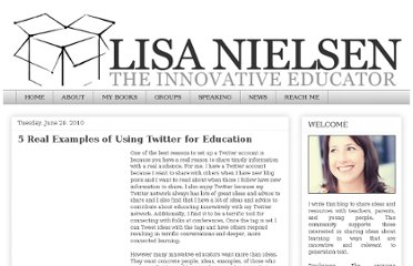http://theinnovativeeducator.blogspot.com/2010/06/5-real-examples-of-using-twitter-for.html