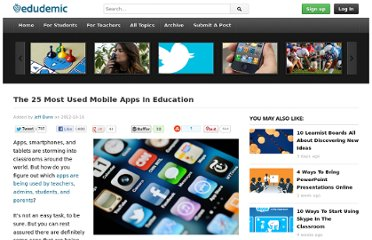 http://edudemic.com/2012/10/most-used-mobile-apps-education/