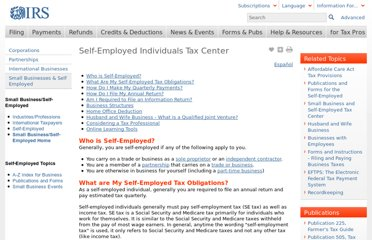 http://www.irs.gov/Businesses/Small-Businesses-&-Self-Employed/Self-Employed-Individuals-Tax-Center