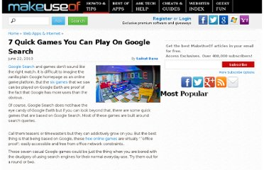 http://www.makeuseof.com/tag/7-quick-casual-google-search-games/