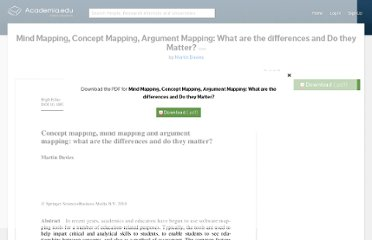 http://www.academia.edu/448864/Mind_Mapping_Concept_Mapping_Argument_Mapping_What_are_the_differences_and_Do_they_Matter