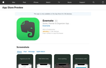https://itunes.apple.com/us/app/evernote/id281796108?mt=8