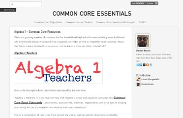 http://commoncoreessentials.posterous.com/algebra-1-common-core-resources