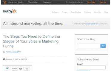 http://blog.hubspot.com/blog/tabid/6307/bid/33711/The-Steps-You-Need-to-Define-the-Stages-of-Your-Sales-Marketing-Funnel.aspx