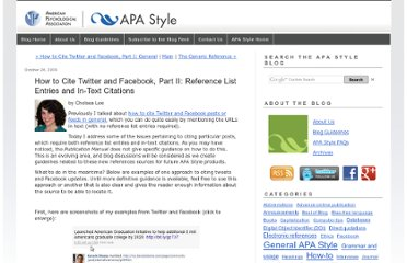 http://blog.apastyle.org/apastyle/2009/10/how-to-cite-twitter-and-facebook-part-ii.html