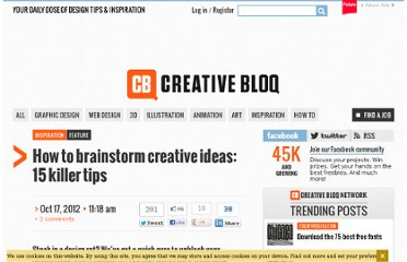 http://www.creativebloq.com/graphic-design-tips/tips-brainstorming-inspiration-12359-10